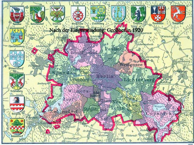 Gross Berlin rbb preußen chronik bild nach der eingemeindung großberlin 1920