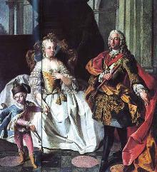 Maria Theresia und Gatte Franz von Österreich